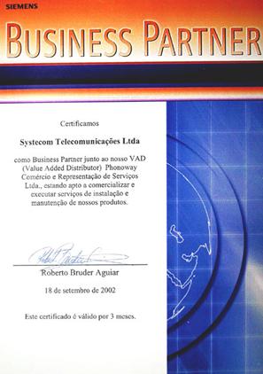 Homologação Business Partner Siemens